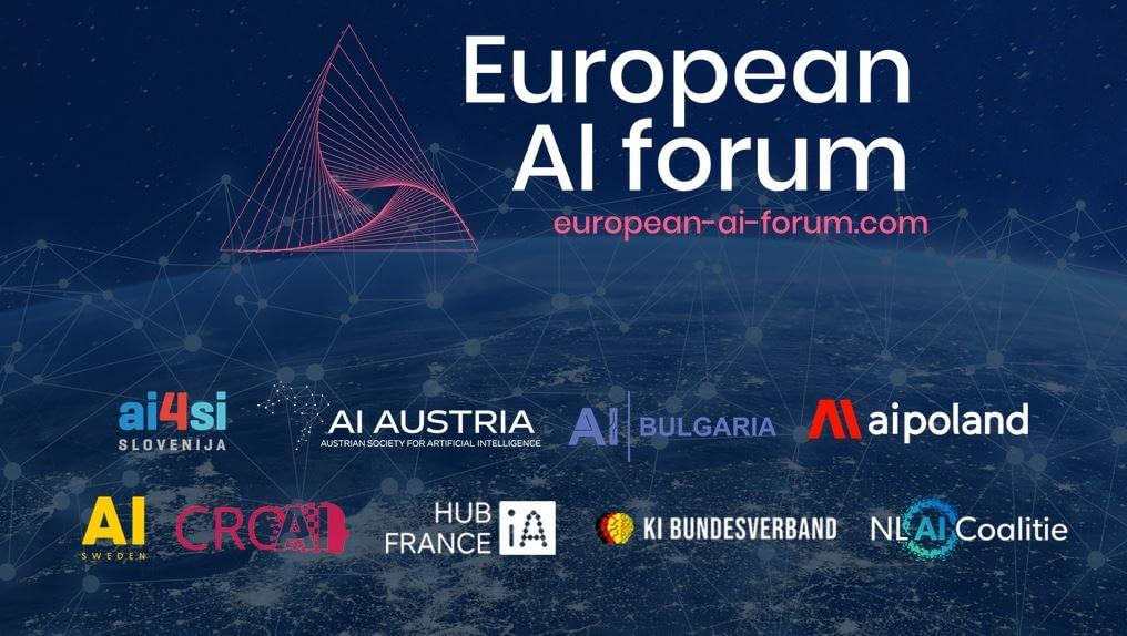 European AI Forum 2021 National AI Associations logos