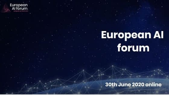 European AI forum and new post-COVID context