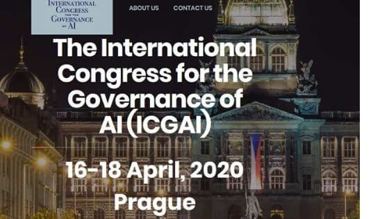 International Congress for the Governance of AI - ICGAI 2020 in Prague